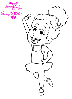 little miss dancey pants coloring book sheet